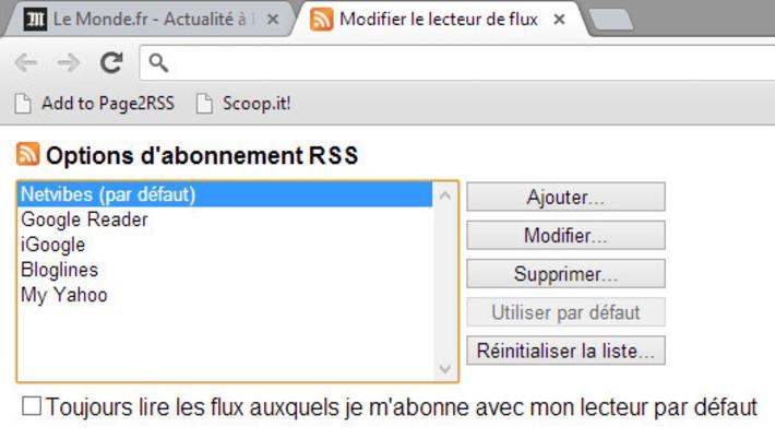 Ajouter des flux RSS à Netvibes depuis Chrome   TIC et TICE mais... en français   Scoop.it