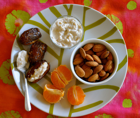 Vegan Snack Attack! Dates Stuffed With Sweet Cashew Cream, Almonds & Tangerines | My Vegan recipes | Scoop.it