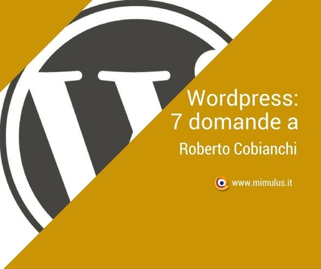 WordPress: intervista a Roberto Cobianchi | Digital Friday by Mimulus | Scoop.it