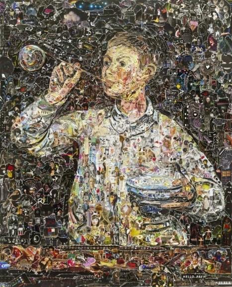Famous Paintings Recreated with Magazine Strips-  Vik Muniz | art&craft | Scoop.it