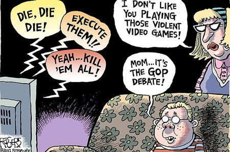 This Week In Education: Cartoon: Violent Video Games Vs. The GOP Debates | Machinimania | Scoop.it