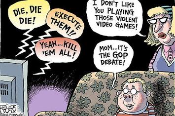 This Week In Education: Cartoon: Violent Video Games Vs. The GOP Debates | Machinimania | Scoop.it