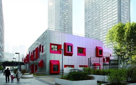 Sustainable School in Paris which Facade Changes its Color | Design | News, E-learning, Architecture of the future at news.arcilook.com | Architecture e-learning | Scoop.it