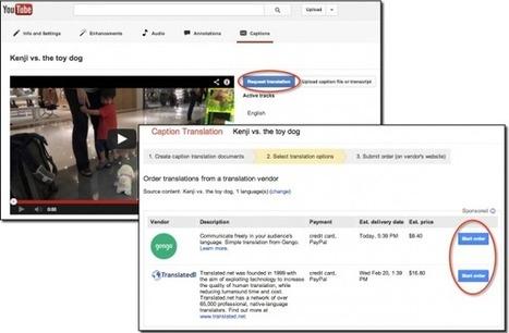YouTube ya permite encargar la traducción de subtítulos en 36 idiomas a profesionales | Educación a Distancia y TIC | Scoop.it
