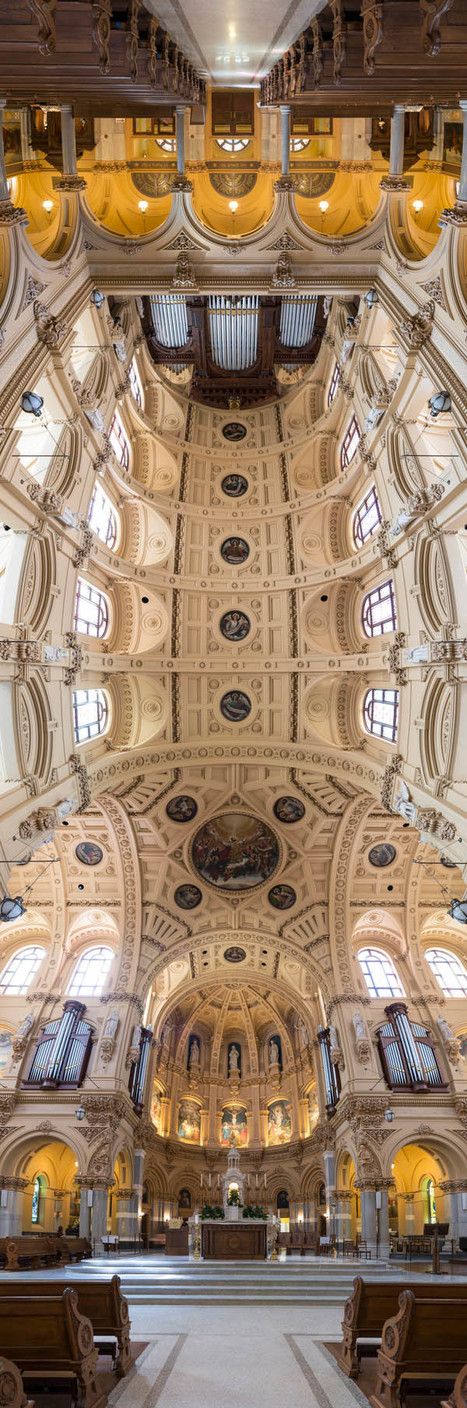 [VERTICAL] Trippy 180-Degree VERTICAL Panoramas of Churches in New York City | The Architecture of the City | Scoop.it