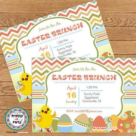Easter Brunch Invitations   Personalised Return Gift   Scoop.it