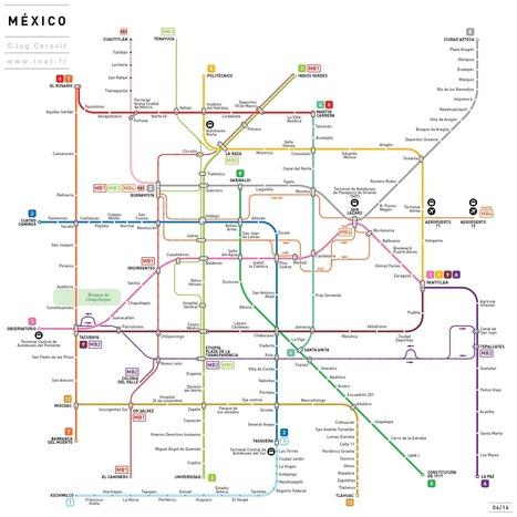 De Paris à New York, des plans de métro simplifiés | Tout sur le Tourisme | Scoop.it