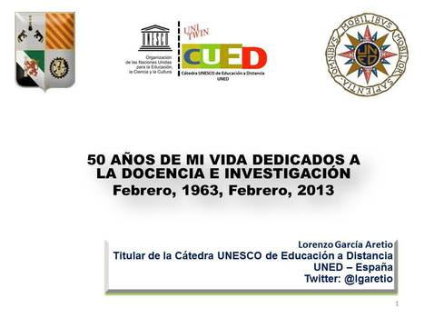 50 años de docencia e investigación. Contextos universitarios mediados. | Didactics and Technology in Education | Scoop.it