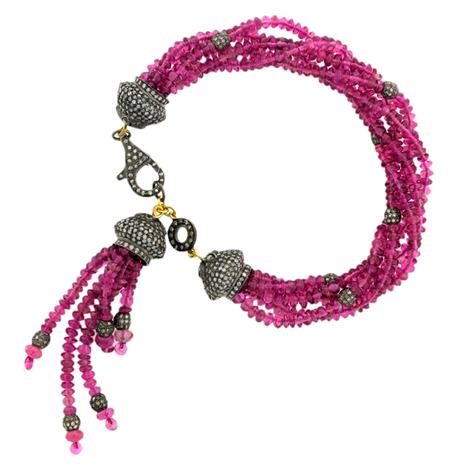 Tourmaline Beads Tassel Bracelet | Gemstone Jewelry | GemcoDesigns | Pave Diamond Bracelets | Diamond Jewelry | GemcoDesigns | Scoop.it