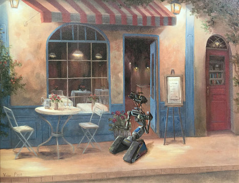 Artist Adds #Pop #Culture Characters to Breathe New Life into Old Thrift Store #Paintings. #art | Luby Art | Scoop.it