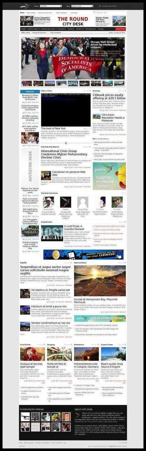 Gabfire Themes - City Desk WordPress Theme   Review   best sansar   Scoop.it