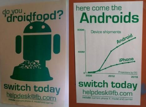 Campagna Droidfood per i dipendenti di Facebook: Invito a passare ad Android! | Android News Italia | Scoop.it