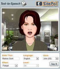 Best Text-to-Speech Demo: Create Talking Avatars and Online Characters | SitePal TTS Demo | Learning English as a Foreign Language | Scoop.it