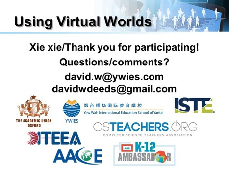 David W. Deeds: ACAMIS Technology Conference:Using Virtual Worlds | 3D Virtual-Real Worlds: Ed Tech | Scoop.it