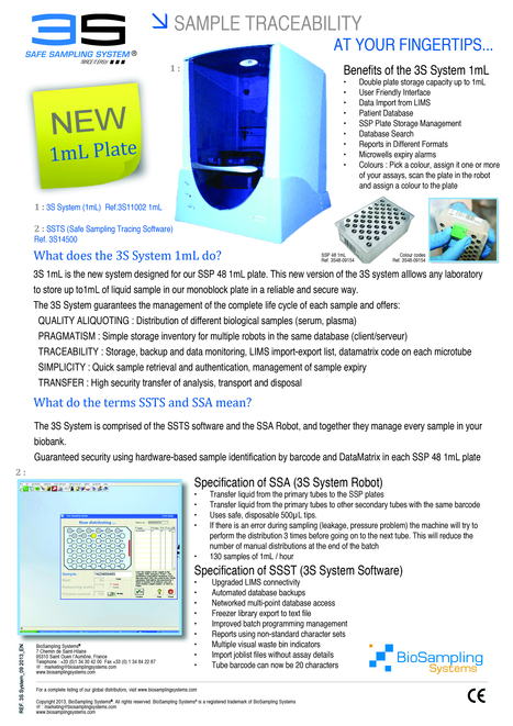What does the 3S System 1mL do?   Health care industry   Scoop.it