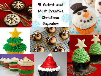 Cute Food For Kids?: 41 Cutest and Most Creative Christmas Cupcakes | Christmas Decorations | Scoop.it
