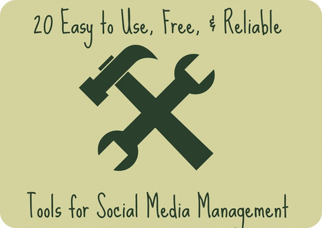 20 Easy to Use, Free, and Reliable Tools for Social Media Management | Social Media in 30 Minutes a Day | Scoop.it