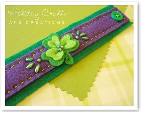 Kids Sewing Projects: Felt Shamrock Bracelet | Easy Sewing Projects for Kids | Scoop.it