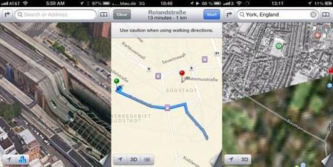 MAPocalypse d'iOS 6 - les erreurs a répétition dans le service de cartographie d'Apple... | M-CRM & Mobile to store | Scoop.it