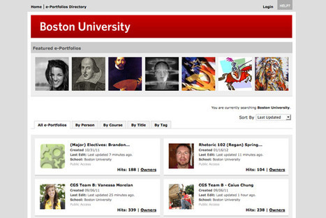 E-Portfolios Showcase Student Work | BU Today | Boston University | Mahara ePortfolio | Scoop.it