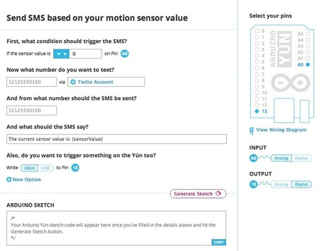 Program a Arduino Yún without writing code! Temboo's Sketch Builder | Regenerating IT | Scoop.it