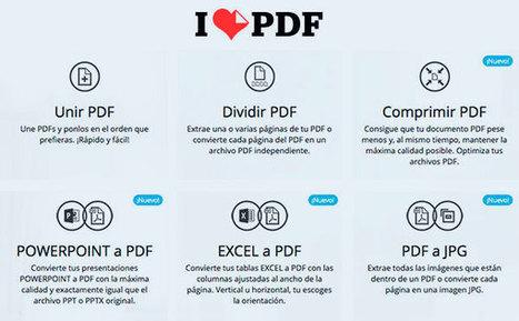 I Love PDF: una gran herramienta para convertir y gestionar archivos PDF | Microsiervos (Ordenadores) | Searching & sharing | Scoop.it