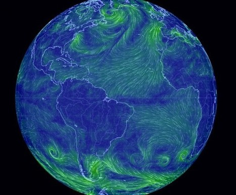 Dos mapas del mundo para ver viento, temperatura, humedad  y presión | Ingeniería del Agua | Scoop.it