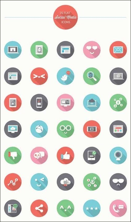 225+ Free social media icons | Designrazzi | Scoop.it