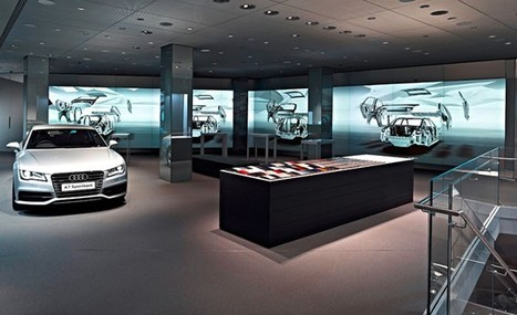 Audi dealership lets you gesticulate your way to a new car using Kinect and multitouch | 4D Pipeline - trends & breaking news in Visualization, Virtual Reality, Augmented Reality, 3D, Mobile, and CAD. | Scoop.it