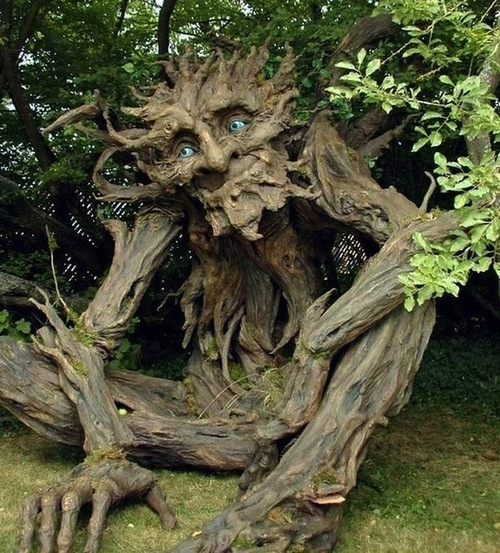 Artist Reincarnates Recently Deceased Father Into Tree Troll