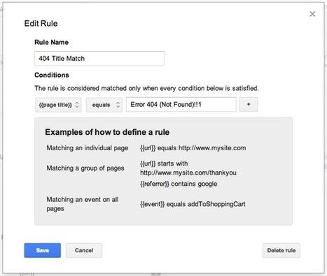 Tracking 404 Errors with Google Analytics and Google Tag Manager   Google Tag Manager   Scoop.it