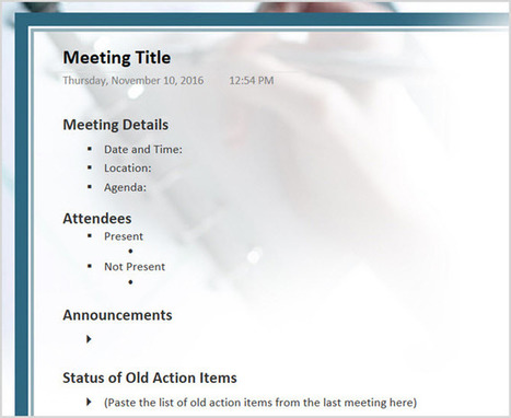 12 Best Meeting Minutes Templates for Professionals | productivity tips 247 | Scoop.it