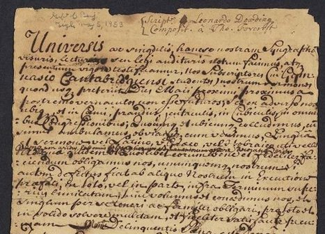 Read About Drama, Politics, Breakfast in These Newly Digitized Colonial Documents | We Teach Social Studies | Scoop.it