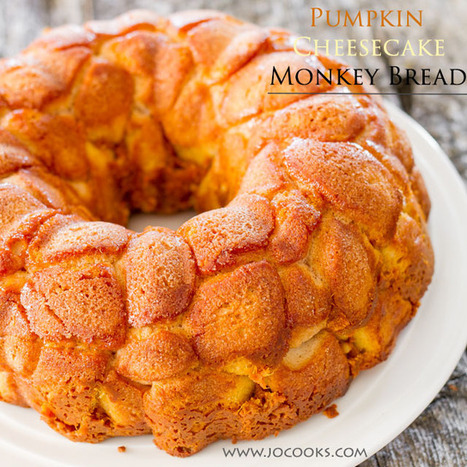 Pumpkin Cheesecake Monkey Bread | The Man With The Golden Tongs Hands Are In The Oven | Scoop.it
