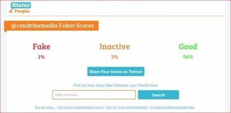 Find out how many of your Twitter followers are fake with Fake Follower Check | web design | Scoop.it