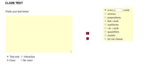 Cloze test creator!   Monya's List of ESL, EFL & ESOL Resources   Scoop.it