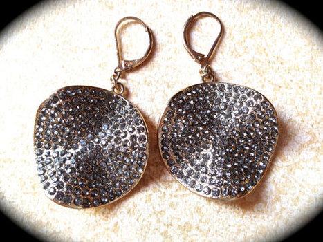 RESERVED FOR LINDA...............Vintage pave rhinestone earrings   vintage jewelry   Scoop.it