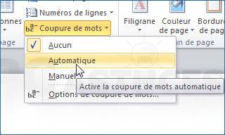 Couper automatiquement les mots en fin de ligne - Word | Time to Learn | Scoop.it