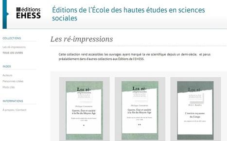 Éditions de l'École des hautes études en sciences sociales (EHESS) : Les ré-impressions | Nos Racines | Scoop.it