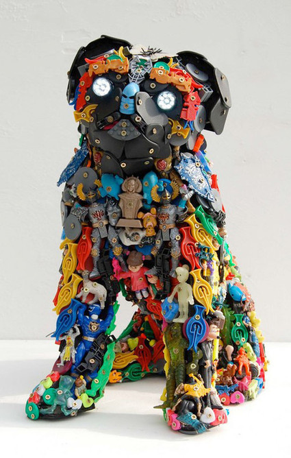 40 Terrific Works of Art Made From Common Trash - Noupe | Socialart | Scoop.it
