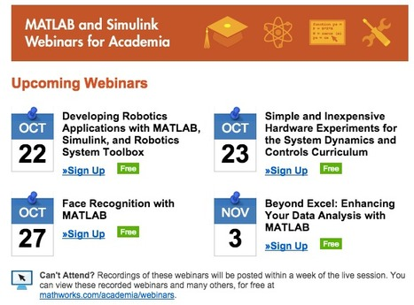 [MATLAB Webinars] Upcoming Academic Sessions | COMPUTATIONAL THINKING and CYBERLEARNING | Scoop.it