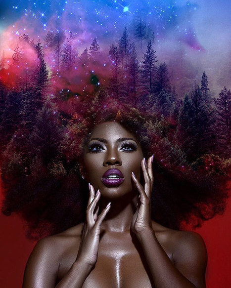 #Afros Turned Into Flowery #Galaxies To Make Black Women Proud Of Their African Heritage #hair #art | Luby Art | Scoop.it