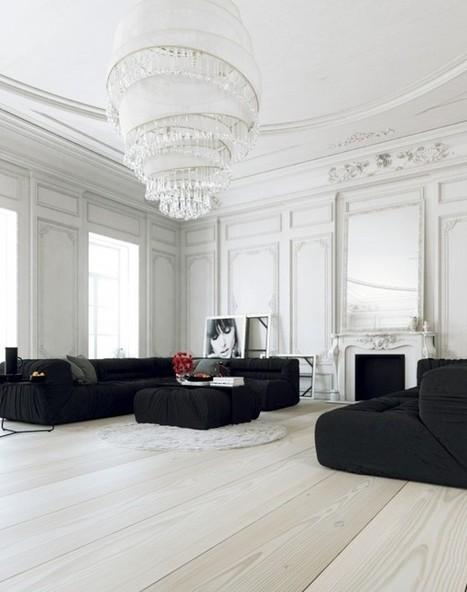 Scandinavian & Parisian Apartments In White | Beauty Art | Entrée Paris - Relocation | Scoop.it