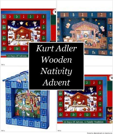 Kurt Adler Wooden Nativity Advent Calendar on Flipboard   Holiday Decorations   Scoop.it