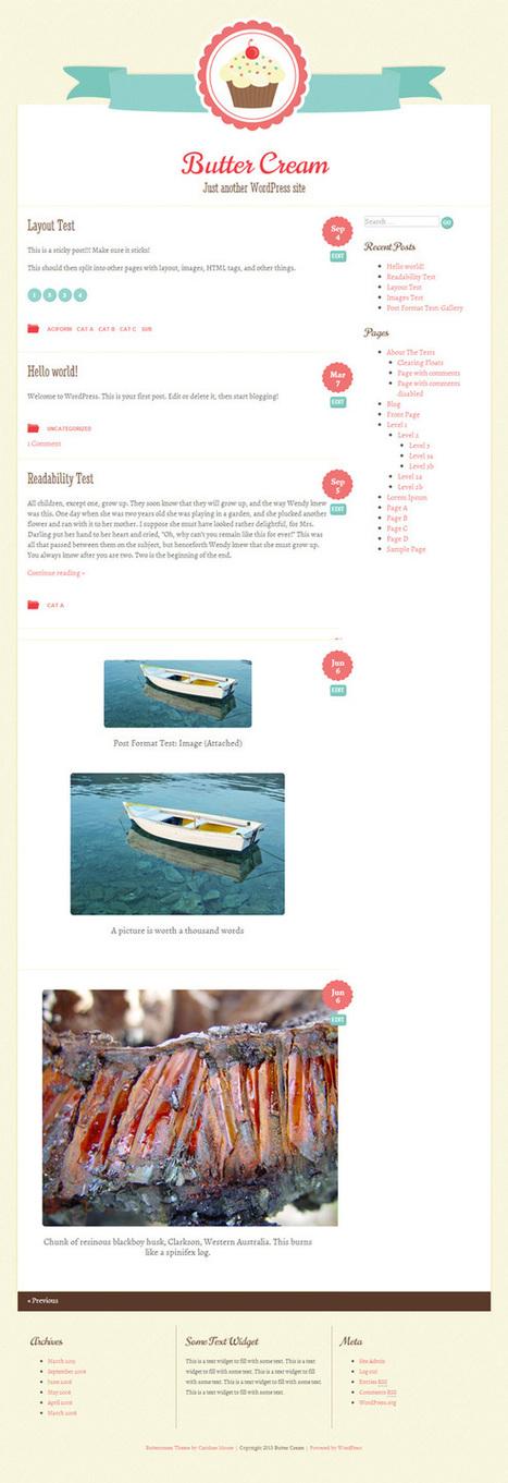 ButterCream WordPress Theme With Right Sidebar - Professional Wordpress Themes, Templates and Prestashop Templates   Free WordPress Themes VR   Scoop.it