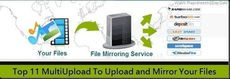 Top 11 MultiUpload To Upload and Mirror Your Files to Multiple Hosts – Create Your Mirror Links At Once   Rapidleech2day   Scoop.it