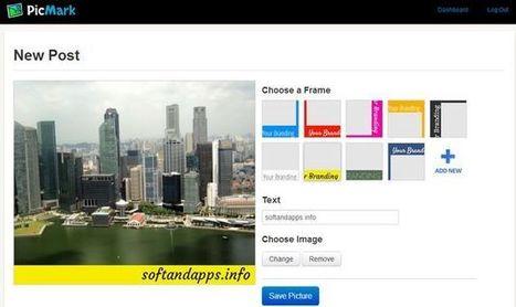 PicMark, utilidad web para insertar marcas de agua a tus imágenes y compartirlas en la red | Edu-Recursos 2.0 | Scoop.it