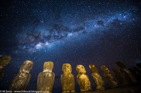 APOD: 2012 June 18 - Milky Way Above Easter Island | English Learning House | Scoop.it