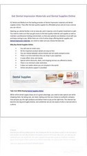 Get Dental Impression Materials And Dental Supplies | YUDU | Dental Supplies | Scoop.it