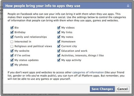 When you share with Facebook friends, you share with all the apps they use   Life @ Work   Scoop.it